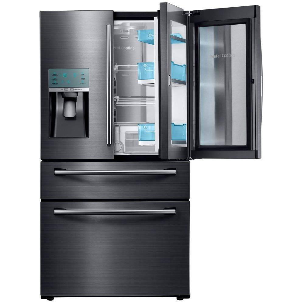 French Door Refrigerator in Black Stainless Steel